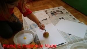 oslikavanje, jabuke